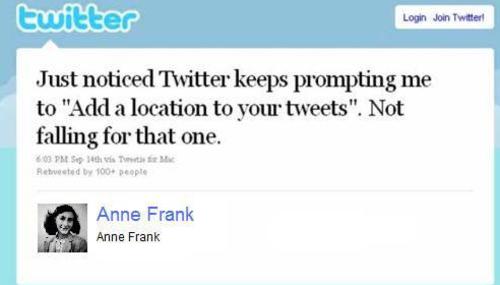 twitter anne frank
